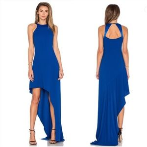 Halston Heritage OPEN BACK ASYMMETRICAL DRESS